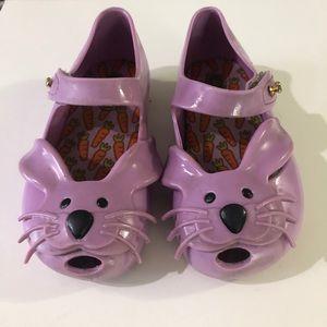 Mini Melissa Purple Bunny Mary Janes